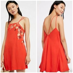 Free people flower fields shift mini Dress